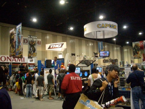"The exhibit hall in a less busy section. I realize now that no one calls it the ""dealer room"" anymore"
