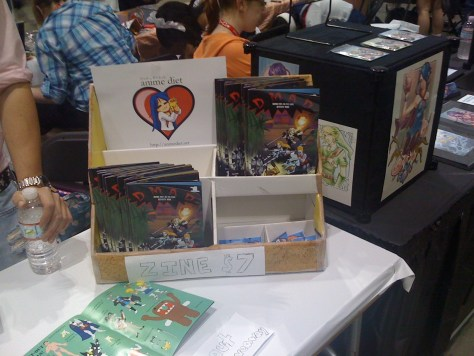 Our table and zine at Artists' Alley