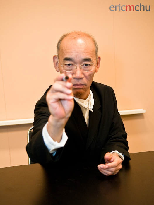 Tomino posing.  Photography by Eric M Chu.