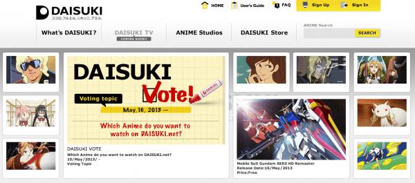 daisuki_front_page
