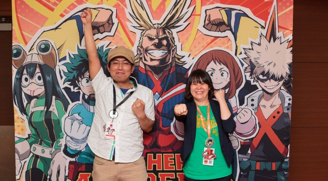 """Interview: Kenji Nagasaki and Wakana Okamura of """"My Hero Academia"""""""