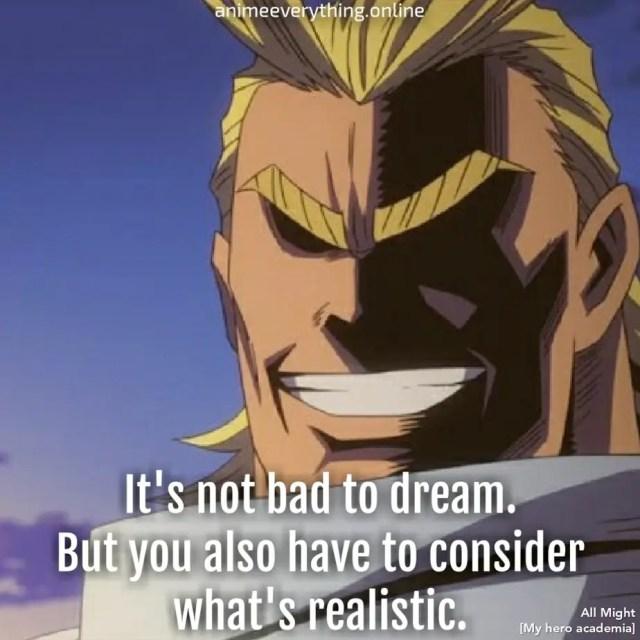 My hero academia quote