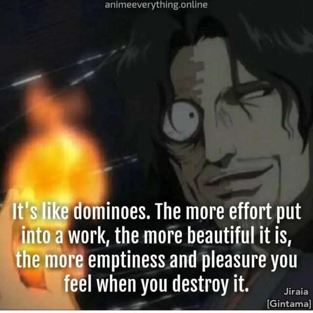 Jiraia Gintama - Evil anime villain quote
