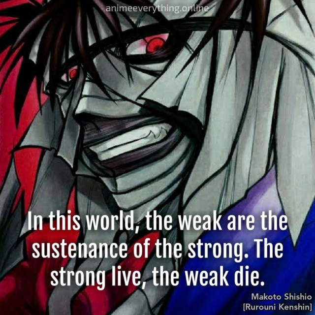 Shishio - Rurouni Kenshin Evil anime villain quotes
