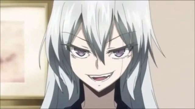 anime girl with scar across the eye