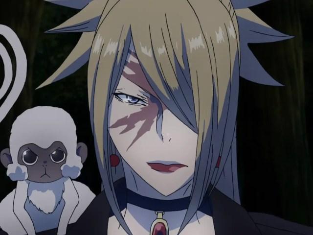 anime girl with face scar