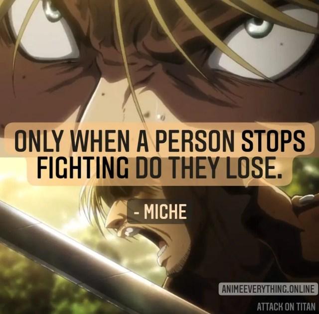 shingeki no kyojin quotes - Miche