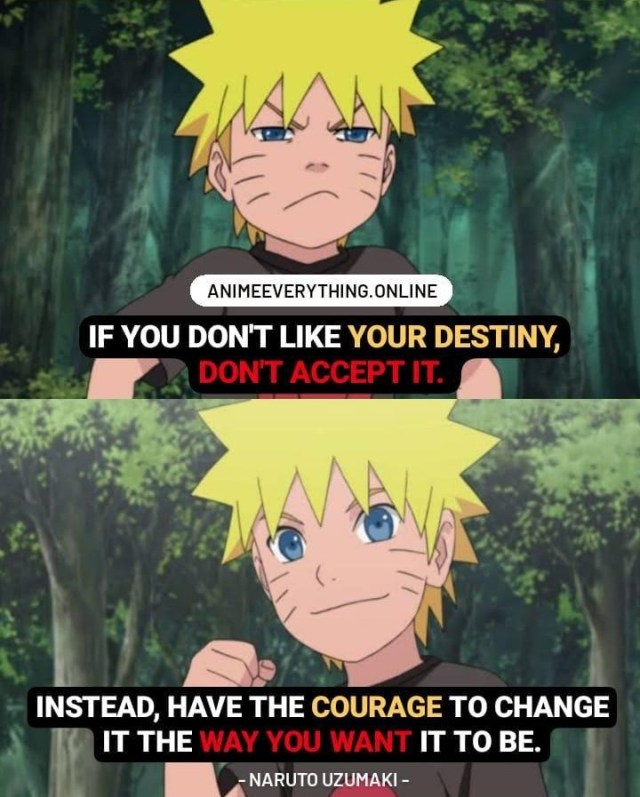 Naruto inspirational quote