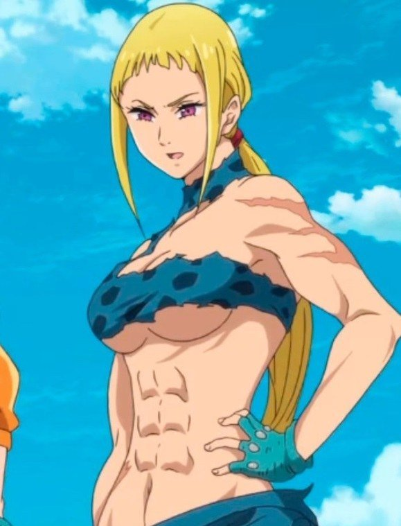 Muscular anime giant girls