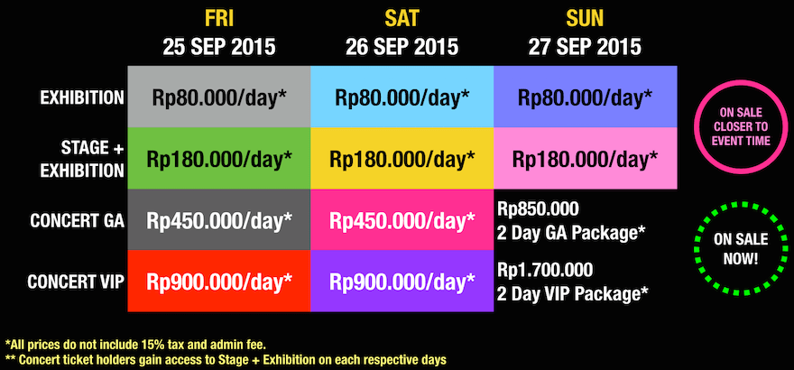 AFAID 2015 TICKETING OPTIONS