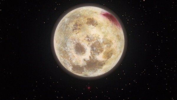 Blood patch on the moon from Lilith's wound
