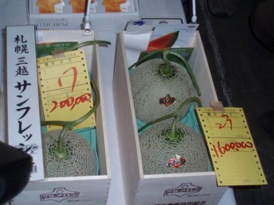 Et par yubari meloner kostede 1,6 millioner yen