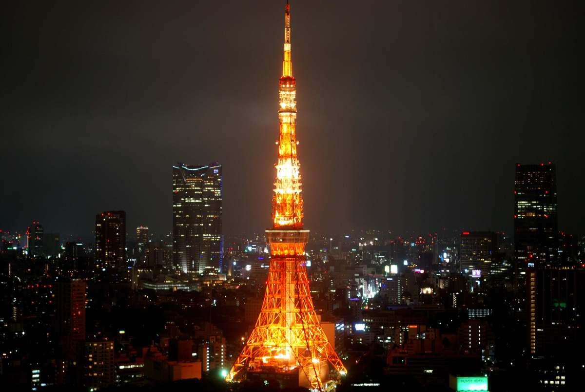 Japan foto: Tokyo Tower om natten