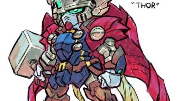 Hvis Marvel superhelte var Gundams