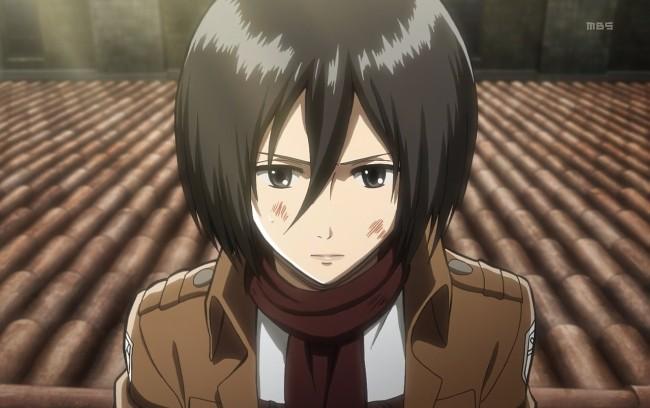 3. Mikasa Ackerman (Attack on Titan)