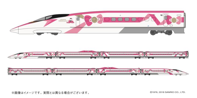 Hello Kitty højhastigheds tog