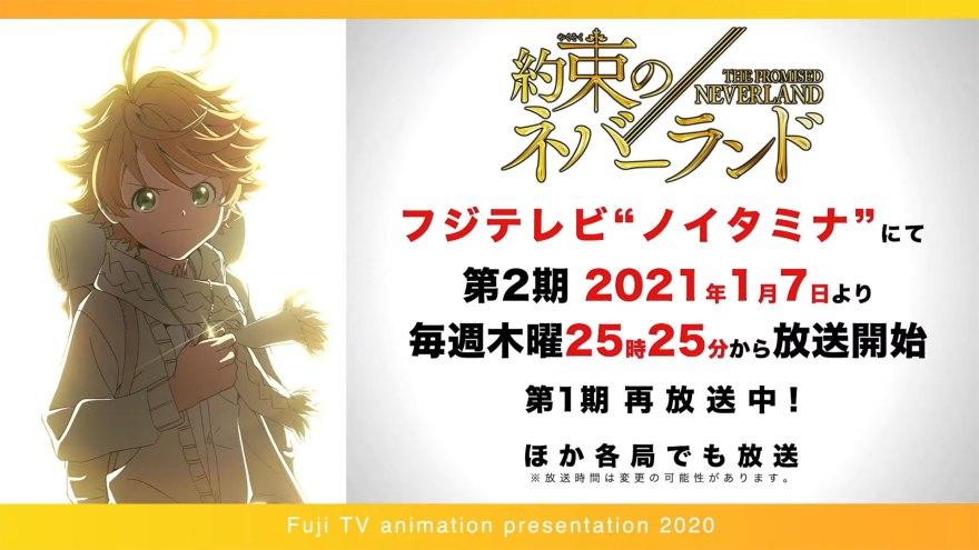 THE PROMISED NEVERLAND sæson 2 TV anime kommer den 7 januar