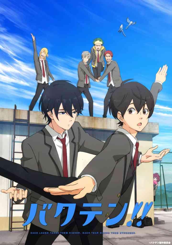 Bakuten!! rytmisk gymnastik TV anime kommer til april
