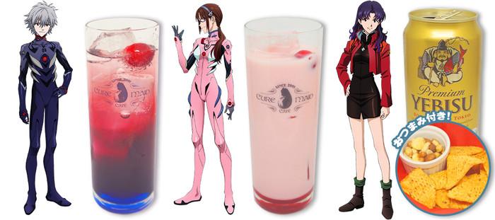 Evangelion samarbejds cafe har den mest passende drink til Misato