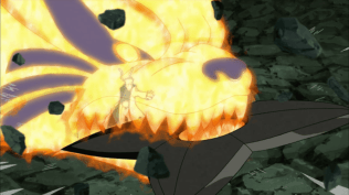 Naruto Kurama Mode vs Obito