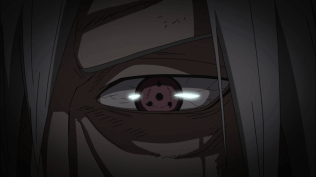 Madara's Sharingan eye