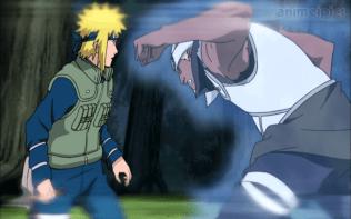 A attacks Minato.