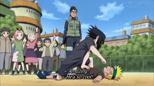 Sasuke child vs Naruto