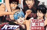 Kuroko no Basket | Nova temporada chega em Janeiro!