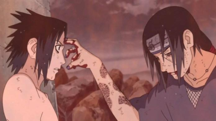 Itachi before dying infront of Sasuke