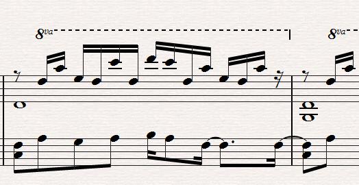 WP images: Piano sheet music, post 2
