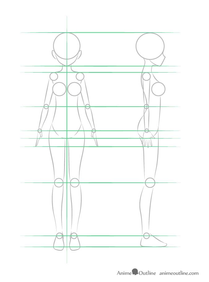 How To Draw Anime Girl Body Outline : anime, outline, Anime, Tutorial, AnimeOutline