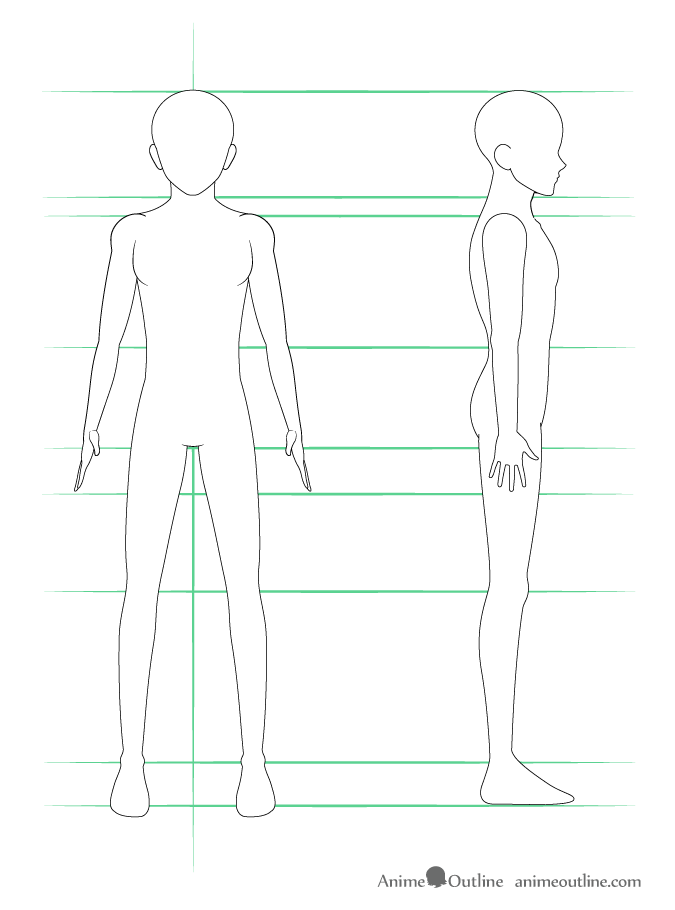 Anime Character Side View : anime, character, Anime, Tutorial, AnimeOutline