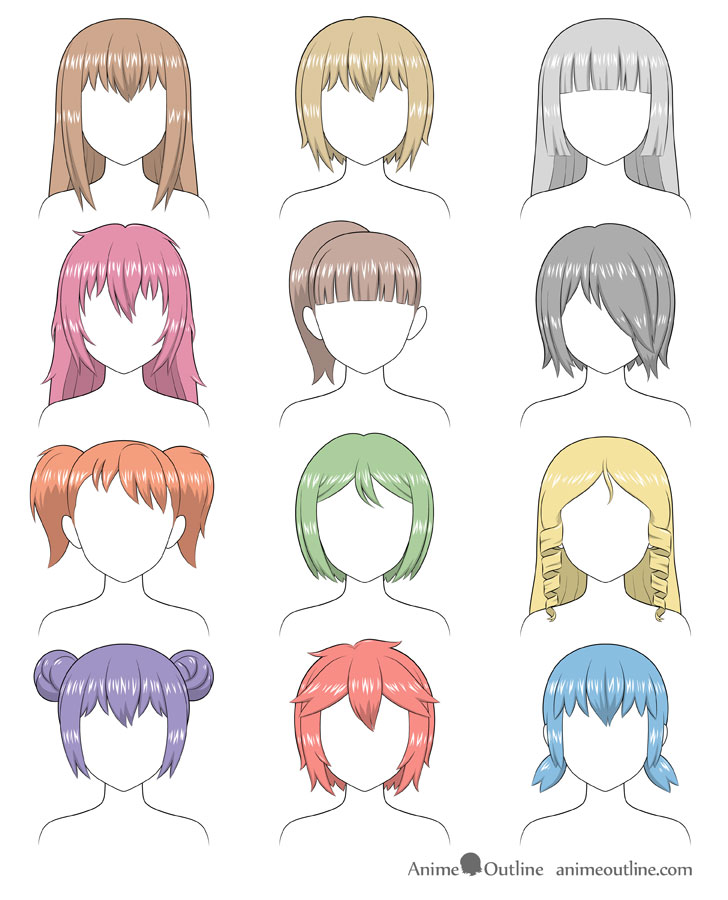 Anime Hair Ideas : anime, ideas, Shade, Anime, AnimeOutline