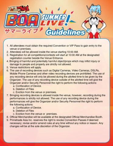BOA Summer Live_Guidelines