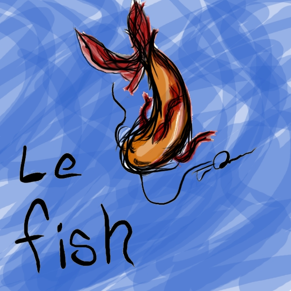Random squiggles turned fish! All work was done on my Wacom Intuos 4.