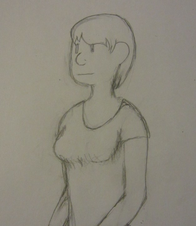 My wife came out and asked what dude I was drawing. This is before the boobage part but clearly I need to work on this.