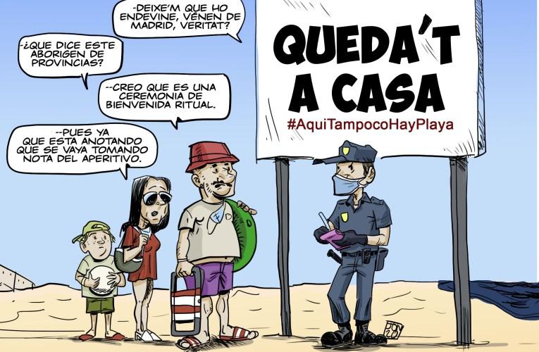#AquiTampocoHayPlaya