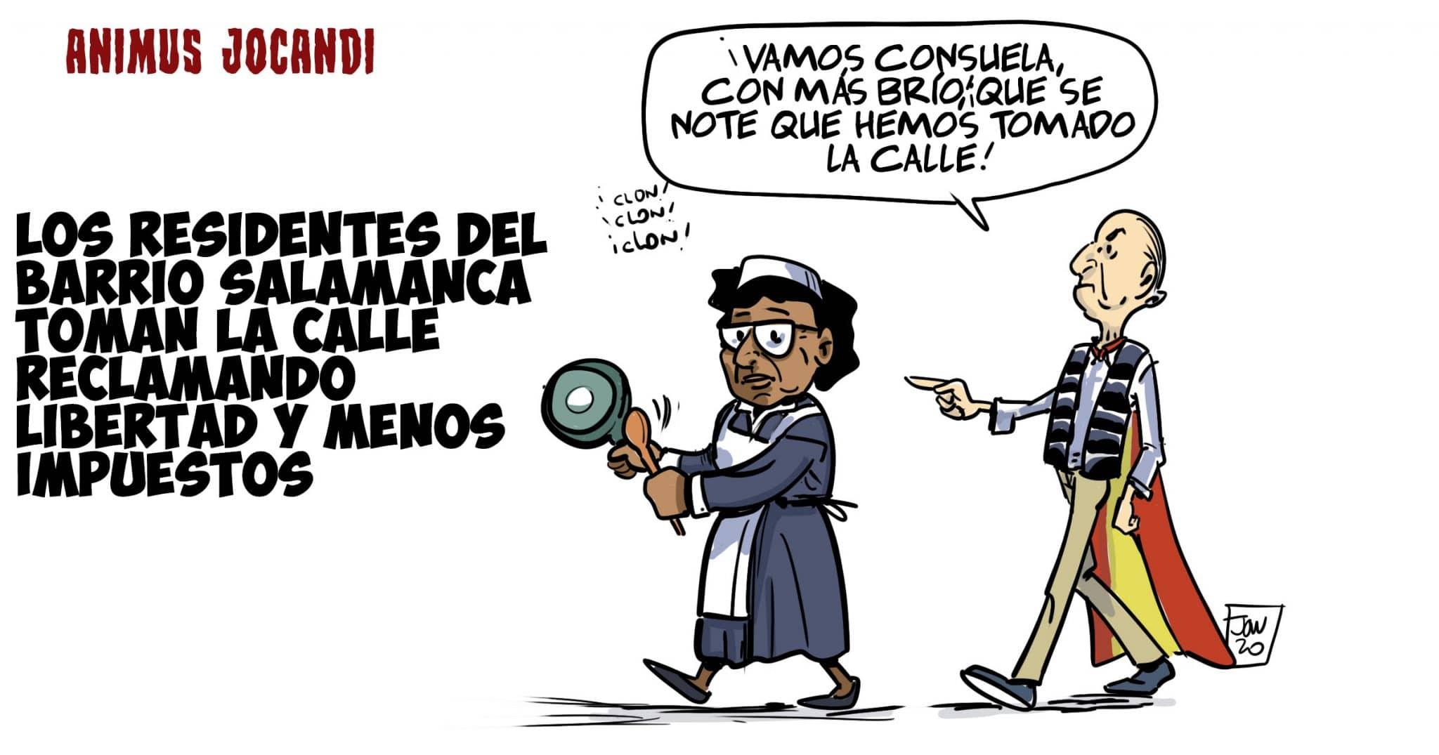 barrio salamanca rico madrid protesta con la criada noticia