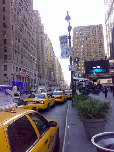 Yellow Taxi Queue New York