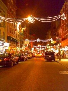 Street Christmas Lights NY