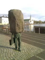 Reykjavik Rock Head Statue