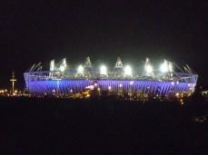 London Olympic Stadium Night Lights