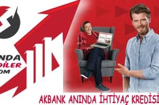 Akbank Anında İhtiyaç Kredisi