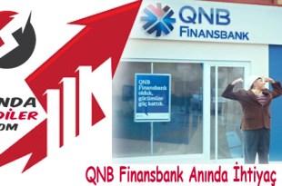 QNB Finansbank Anında İhtiyaç Kredisi