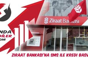 Ziraat Bankası sms kredi başvurusu