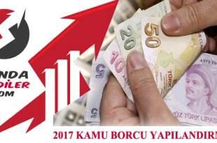 2017 kamu borcu yapılandırması