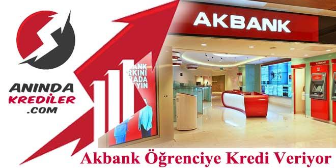 Akbank Öğrenci Kredisi
