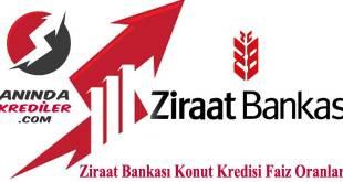 Ziraat Bankası Konut Kredisi Faiz Oranları 2018