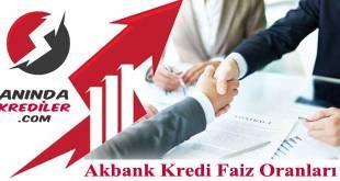 Akbank Kredi Faiz Oranları 2018