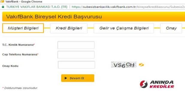 vakifbank-kredi-basvuru-ekrani